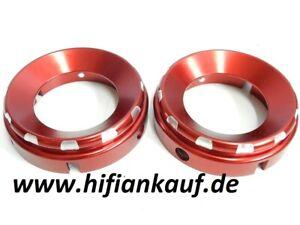 Aluminium Kelche-NAB Adapter ROT - -FÜR revox-pioneer USW