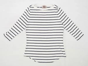 Arabella-amp-Addison-Womens-Size-XL-Striped-Cotton-Blend-White-T-Shirt-Regular