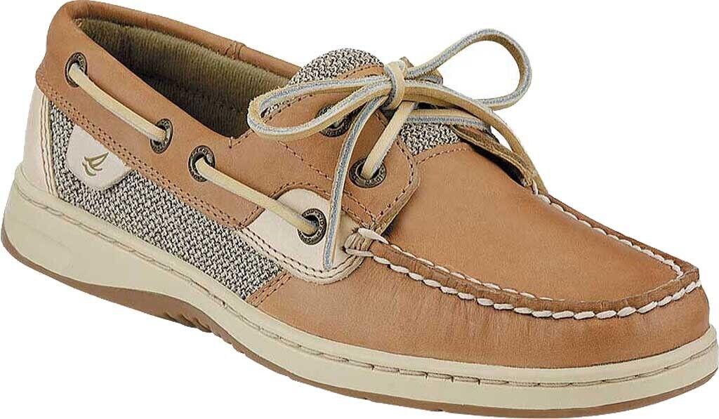 Sperry Top-Sider Bluefish 2-Eye Boat Shoes (Women's) in Linen / Oat - NEW