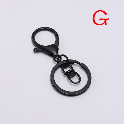 5PCs Lobster D Dog Clasp Swivel Trigger Clip Key Ring Hooks Jewelry Keychain