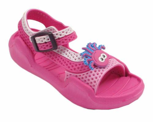 Neuf Enfants Filles Garçons Enfant Contraste Couleurs Clogs Sandales Bride Chaussons Chaussures UK