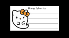 Hello Kitty Ghost Halloween Please Deliver To Pdt Shipping Labels Matte