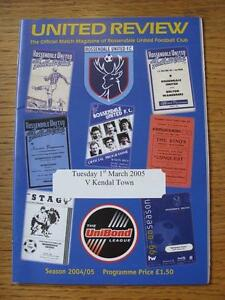 01032005 Rossendale United v Kendal Town  Item in very good condition no obv - Birmingham, United Kingdom - 01032005 Rossendale United v Kendal Town  Item in very good condition no obv - Birmingham, United Kingdom