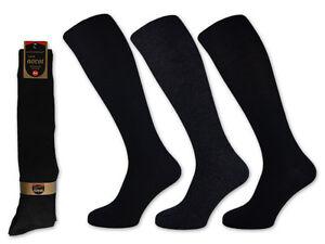 3-bis-15-Paar-Herren-Kniestrumpfe-Schwarz-Blau-Anthrazit-einfarbig-39-50
