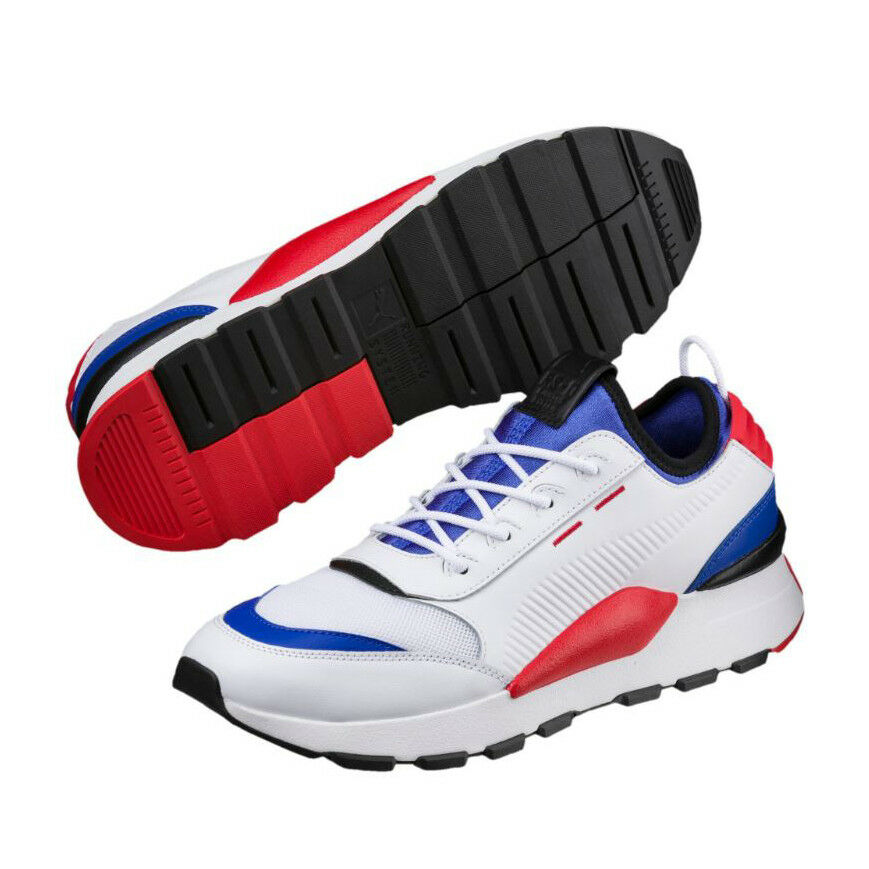 PUMA RS-0 Sound 36689001 Unisex Sneakers shoes White Dazzling bluee High Risk Red