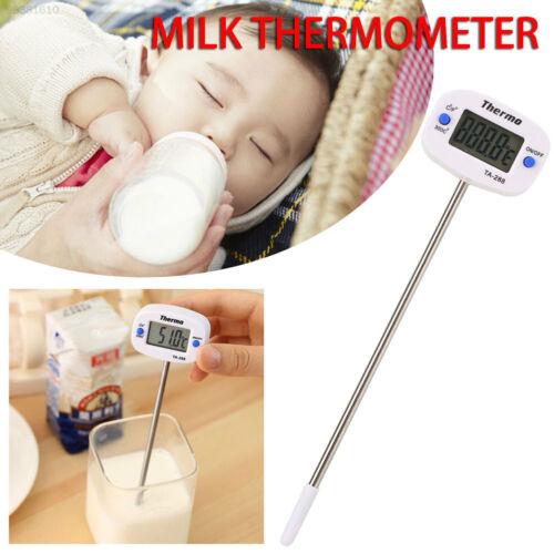 FBF8 Kochen Temperaturanzeige Essen Thermometer Digital LCD Edelstahl Wasser
