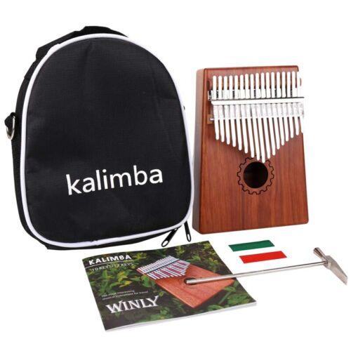 Kalimba Daumen Klavier 17 Tasten Mit Mahagoni Hölzern Mit Tasche Hammer Un G4F5