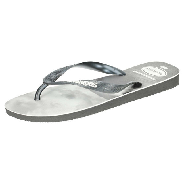 4c64791be15 Havaianas Top Photo Print Mens Black White Rubber Flip Flops - 43-44 for  sale online