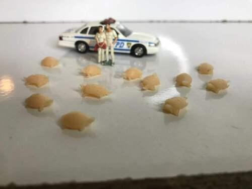 UNPAINTED Ho 1//87 Scale Turtle Set 12pcs