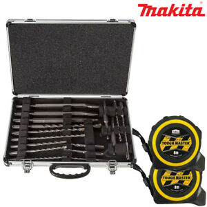 NEW 17 pc in Metal Case Makita D-21200 SDS Plus Drill and Chisel Set GENUINE