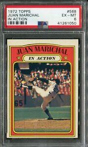 1972-Topps-568-Juan-Marichal-In-Action-PSA-6-EX-MT