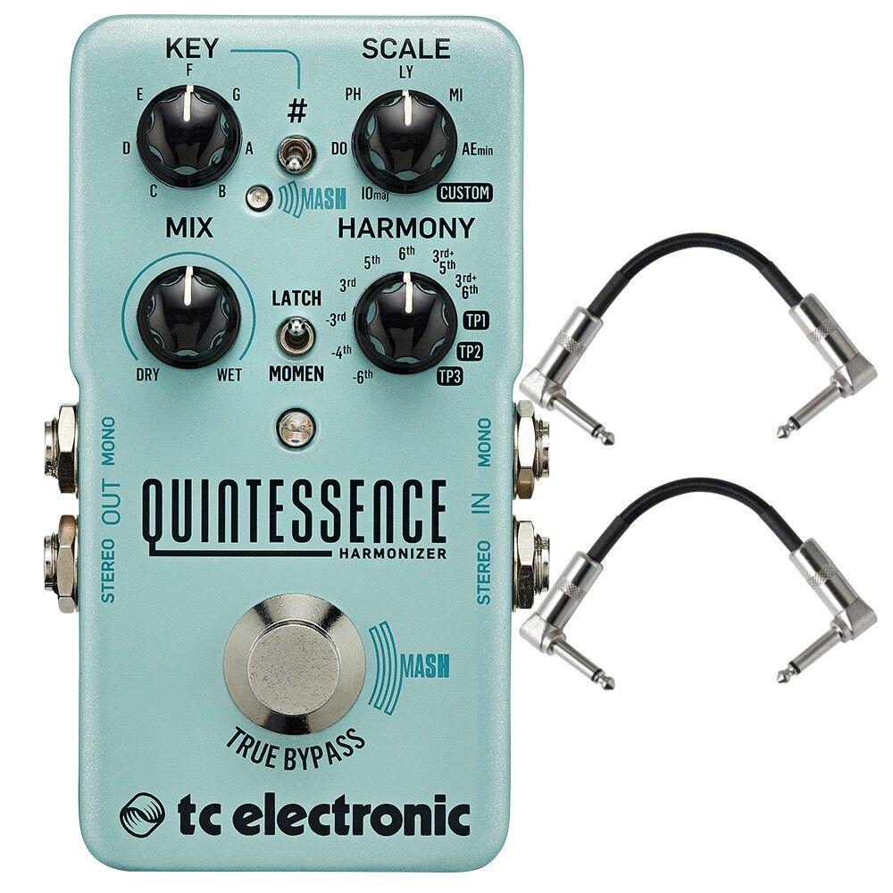 TC TC TC Electronic quintaesencia Armonizador doble expresado Pedal De Efectos De Guitarra + cables  calidad oficial