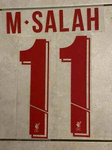 Flocage Nameset M.SALAH # 11 Liverpool Away Exterieur. Champions League