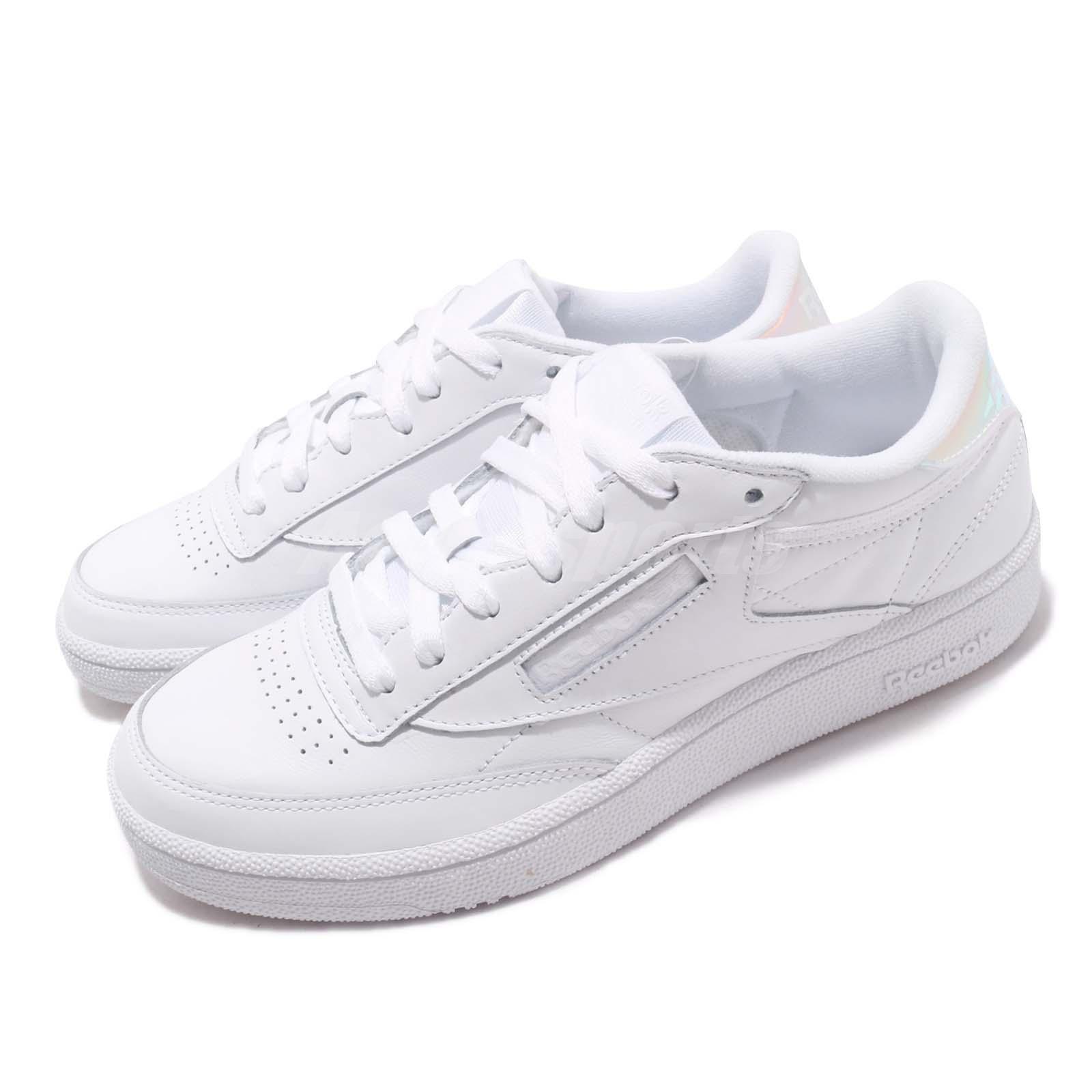 Reebok Club C 85 MU Bianco Iridiscesa  Ologramma Uomini Scarpe Casuale scarpe da ginnastica DV5182  marca