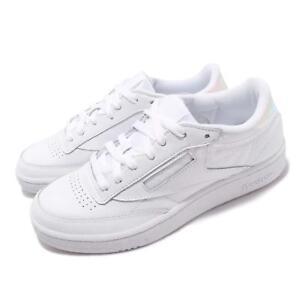 c1d488216d9 Reebok Club C 85 MU White Iridescent Hologram Men Casual Shoes ...