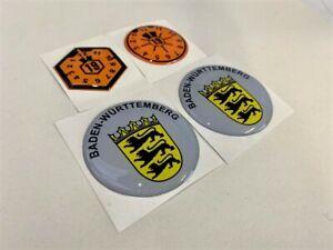 Baden-Wurttemberg-Stadt-State-Badges-Set-3D-Gel-German-Number-Plate-Plakette