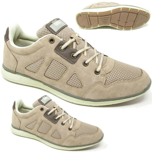 MENS SMART CASUAL LACE UP FAUX SUEDE RUNNING WALKING SPORTS TRAINERS GYM SHOES
