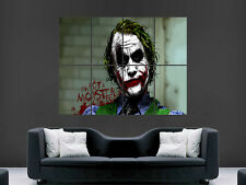 THE JOKER BATMAN HEATH LEDGER COMIC WALL POSTER ART PICTURE PRINT LARGE HUGE