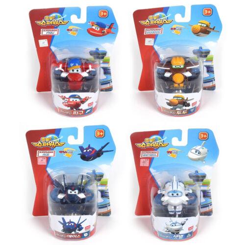 Super Wings MINI Transforming Plane Toy Pigu Set 4pcs Ace// Saetbeol Doodoo