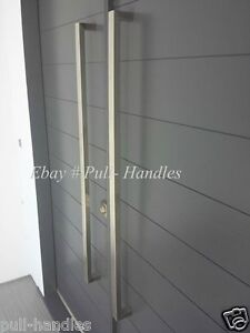 Entry entrance front door pull square handle stainless for Front door handle 7 5 inches