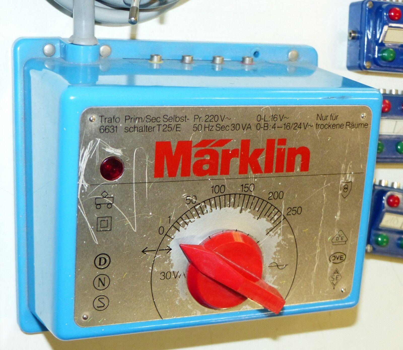 6 pezzi marklin la raccolta raccolta raccolta  6631 Trasformatore 7072 dispositivi di couomodo couomodi 7209 Piastra di Distribuzione 410baa