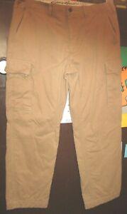 Para Hombre Eddie Bauer Tan Legend Franela Forrado Pantalones Cargo 40x30 Mide 40x34 Mkd Ebay