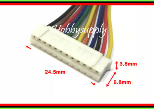 JST-PH 2.0mm 12-Pin Female connector reversed end to end extension 19cm wire x 1