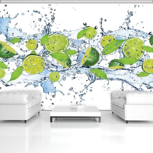 Vließ Fototapete Tapete Wandbild Frische Limetten 320229/_VEMVT