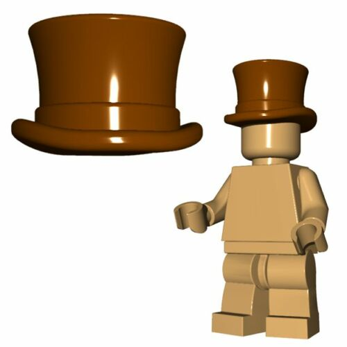 Brown Custom TOP HAT for Lego Minifigures Accessory Steampunk Detective
