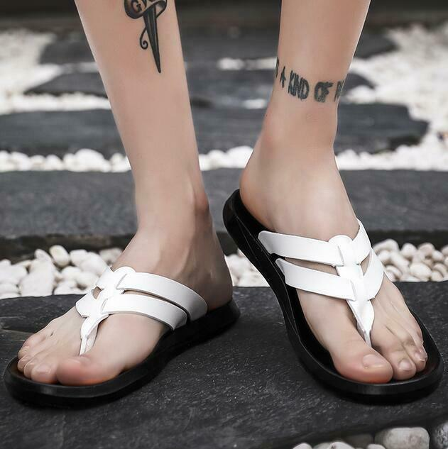 2019 Summer Mens Roman Slipper shoes Thong Sandal Beach shoes Comfort Strap new