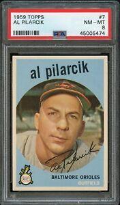 1959-Topps-BB-Card-7-Al-Pilarcik-Baltimore-Orioles-PSA-NM-MT-8