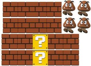 Image Is Loading SUPER MARIO VINYL WALL STICKER WALL DECALS