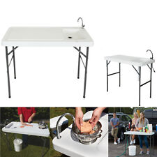 Fish Cleaning Table Portable Camp Kitchen Sink Small Hunting Fishing Table