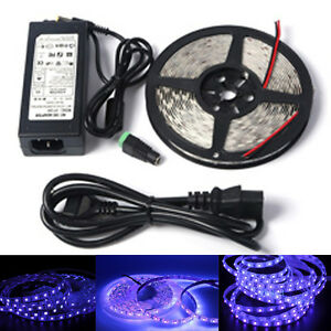UV-Ultraviolet-led-strip-black-light-3528-5050-120led-m-tape-lamp-power-supply