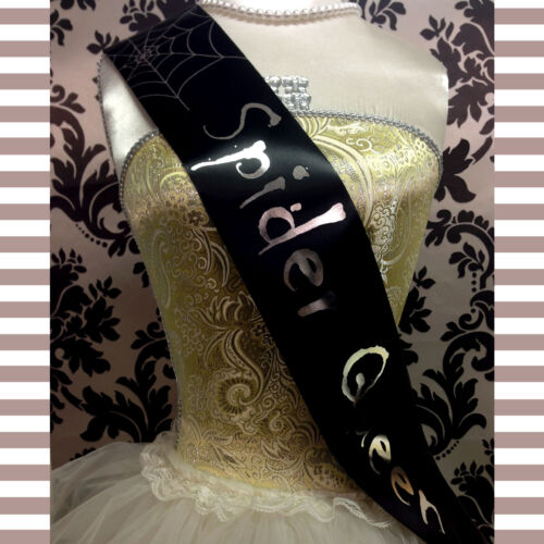 Cheap Halloween Costume SPIDER QUEEN WITCH SASH Halloween Fancy Dress Outfit