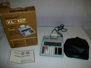 Vintage UNISONIC XL-107 Electronic 12 Digit Thermal Printing Calculator