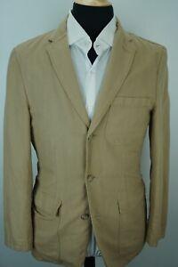 Jcrew-Beige-Linen-Cotton-Blend-Lightweight-Mens-Sport-Coat-Jacket-Sz-S