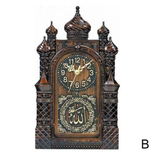 Islamic Wall Clock Masjid Mosque Design Allah Shahadah Arabic Quran Muslim Decor