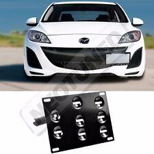Rev9 2010-2014 Mazda3 License Plate Mounting Adapter Kit Bracket Holder Tow Set