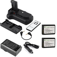 Battery Grip + 2x Lp-e10 Batteries + Charger For Canon Eos 1100d Rebel T3 T5