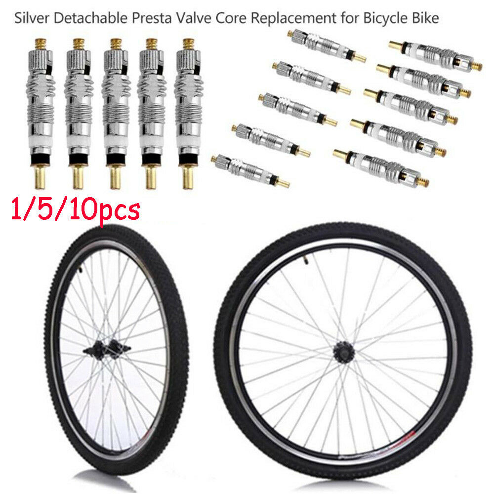 10Pcs Silver Replacement French Presta Valve Core For Bicycles Bike Tool ^P