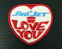 Vintage Embroidered Sno-jet I Love You 3 X 3 Snowmobile Patch (nos)