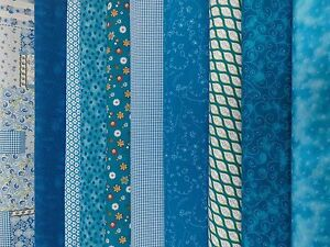 stoff baumwolle patchwork t rkis blau ranken punkte blumen meterware zuschnitt. Black Bedroom Furniture Sets. Home Design Ideas