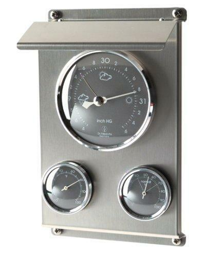 Stazione meteorologica in acciaio inox 3 funzioni