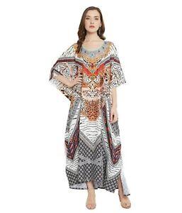Gypsie Blu Women Plus Size Kaftan Summer Maxi Dress Caftan Beach Loose Sundress