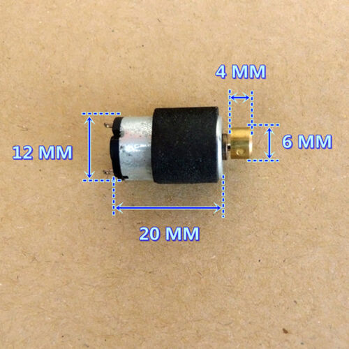 12mm*20mm DC 3V 5V 6V Micro Cylinder Vibration Motor Vibrating DIY Toy Massager