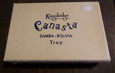 Kingsbridge Canasta Vintage Card Game Tray in Original Box Retro Brown Glitter