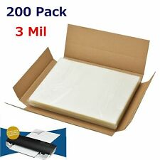 3 Mil Letter Size Thermal Laminator Laminating Pouches 200 Qty 9 X 115 Sheets
