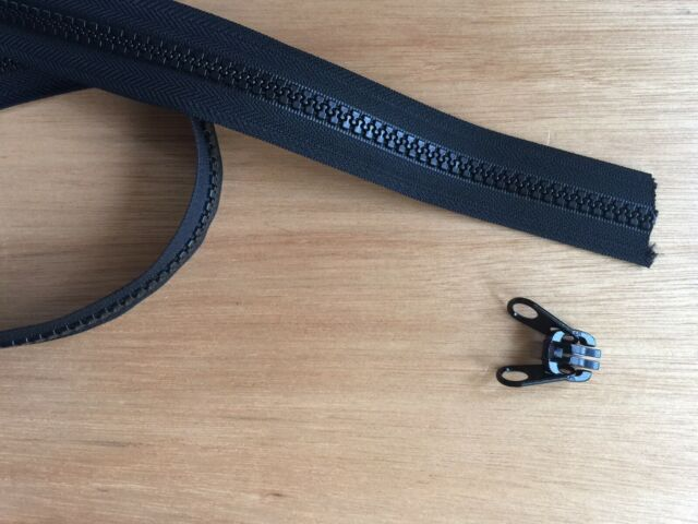 GENUINE YKK VISLON No.10 Black Metal Zipper Slider 1 Double Tab Zip Runner