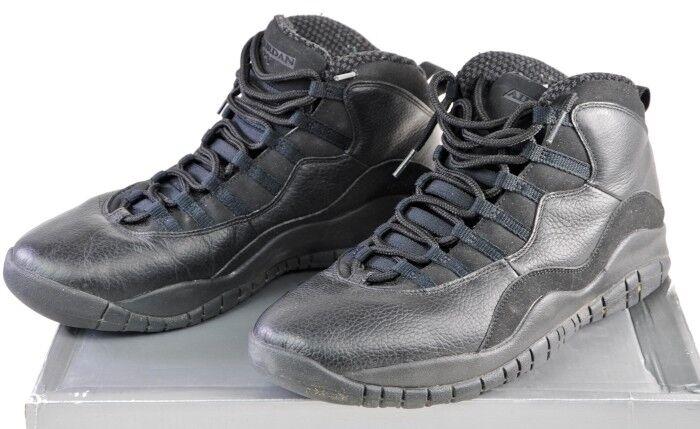 310805-010 Nike Air Jordan 10 Retro Black White 11.5 11&1 2 in Original Box